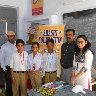 Srudents participating and winning prizes in Painting competition organised for school children in kashipur (uttarakhand)(may 2016)