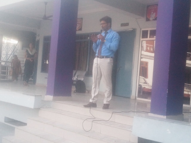 Awareness program on sanitation and hygiene conducted on 18 april 2015 in a School , Lucknow(u.p.)