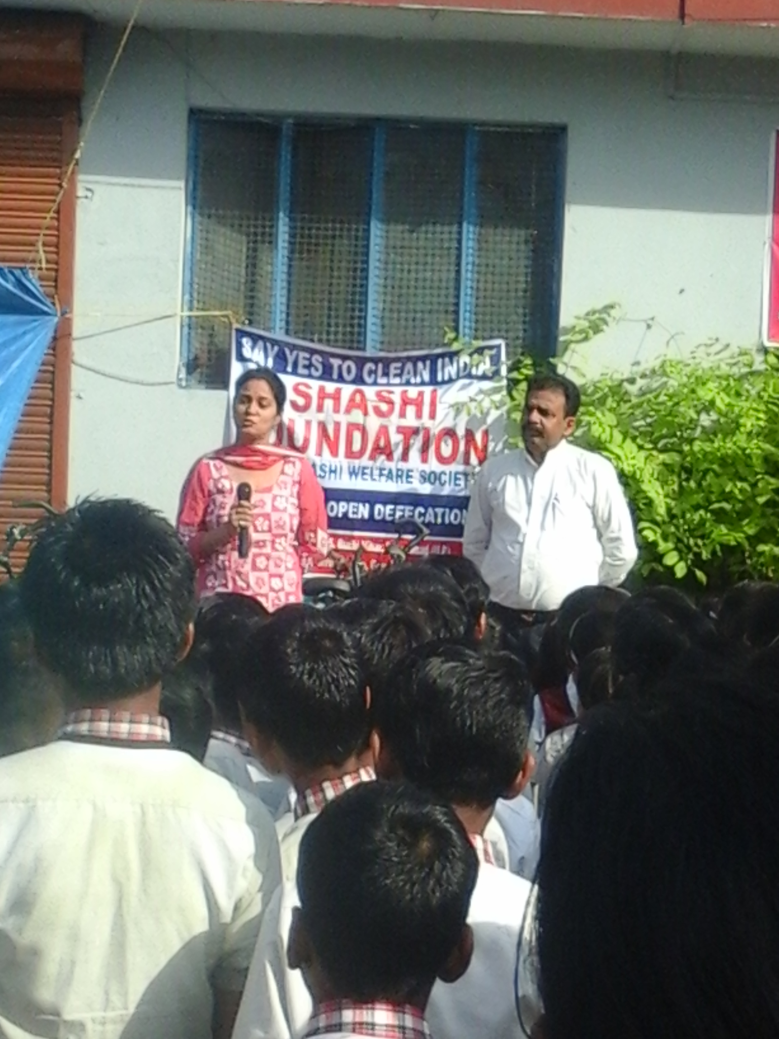 Somyata, Mayank & dilip organised an awareness program on sanitaion and hygiene in MORADABAD(u.p.) on 23 april 2015