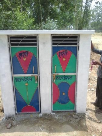 TOILET CONSTRUCTED IN VILLAGE GINNOR DI MAAFI, DISTRICT MORADABAD (U.P.)