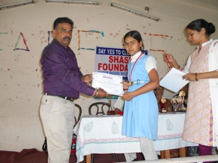 CERTIFICATES OF APPRECIATION DISTRIBUTED TO STUDENTS in MORADABAD (U.P.)FOR THEIR SUPPORT AS VOLLUNTEERS IN THE AWARENESS PROGRAM ON 24 MAY 2015
