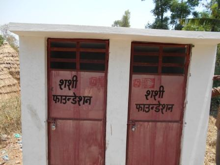 PUBLIC TOILET CONSTRUCTED IN NANAKBAREE VILLAGE DISTRICT MORADABAD (U.P.) IN MAY 2015