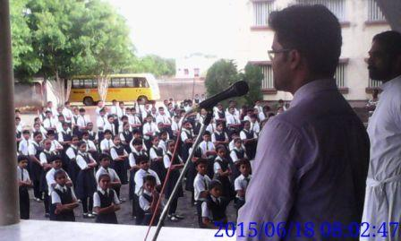 Awareness Program Being Conducted in a school in Gujarat by Bhupendra Singh & Mayank on 18 june 2015