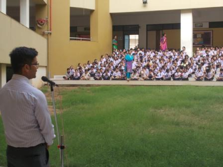 Awareness Program Being Conducted in a school in Gujarat by Bhupendra Singh & Mayank on 22 june 2015