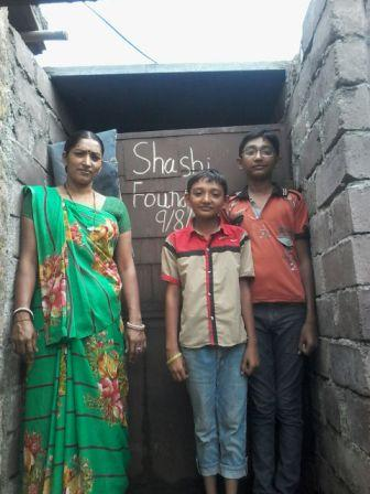 TOILET CONSTRUCTED IN MANSUKHBHAI HOUSE,IN RAJULA, GUJARAT IN AUGUST 2015