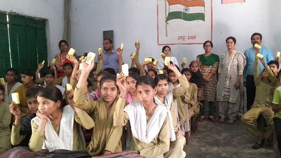 AWARENESS PROGRAM ON SANITATION & HYGIENE WITH SOAP DISTRIBUTION ORGANISED FOR THE STUDENTS OF RURAL MORADABAD(U.P.)IN APRIL 2016